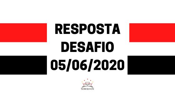 Resposta Desafio 05-06-2020